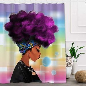 Afro Black Women Watercolor  Shower Curtain